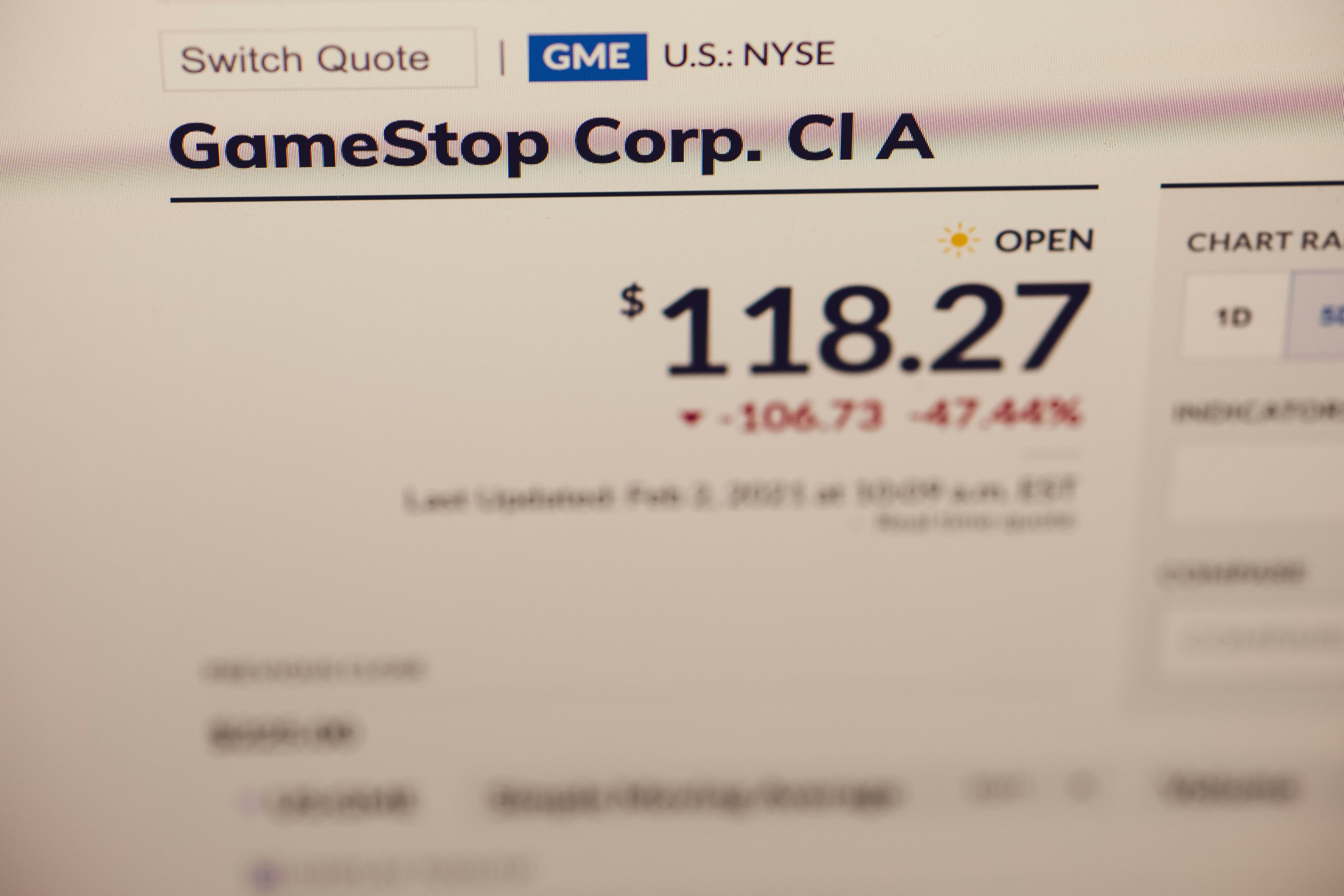 Will the Gamestop for interest markets?